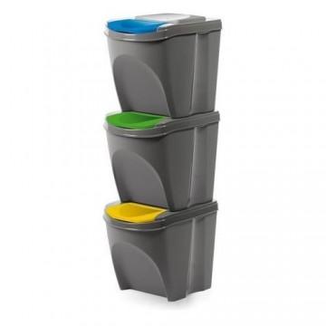 Conjunto de 3 caixas lixo...